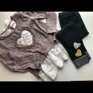 Little Lass Girls Sweater Outfit Size 7/8